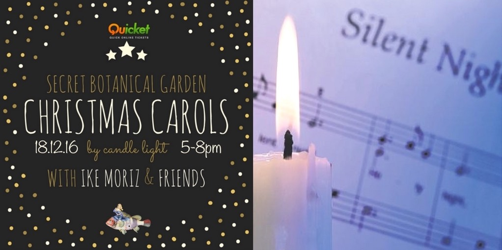 carols by candle light Ike Moriz xmas crooner cape town Secret botanical garden xmas crooners and carols by candle light with Ike Moriz and friends constantia cape Town swing quintango christmas