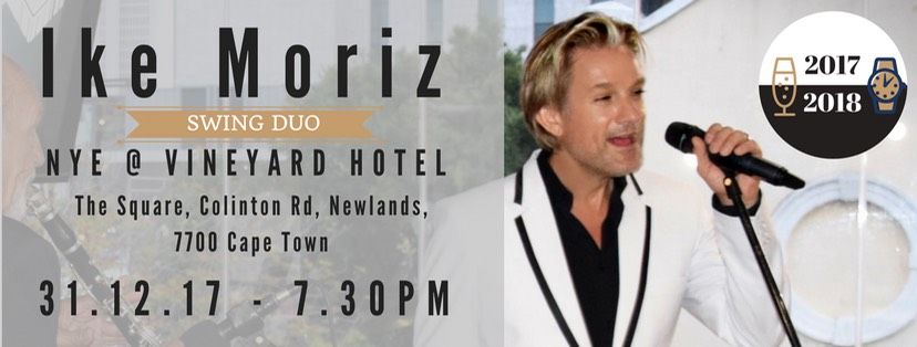 Ike Moriz Duo live The Vineyard Hotel New Year's Eve dinner party 2017 music swing jazz latin pop entertainment wedding band performer singer crooner 2018