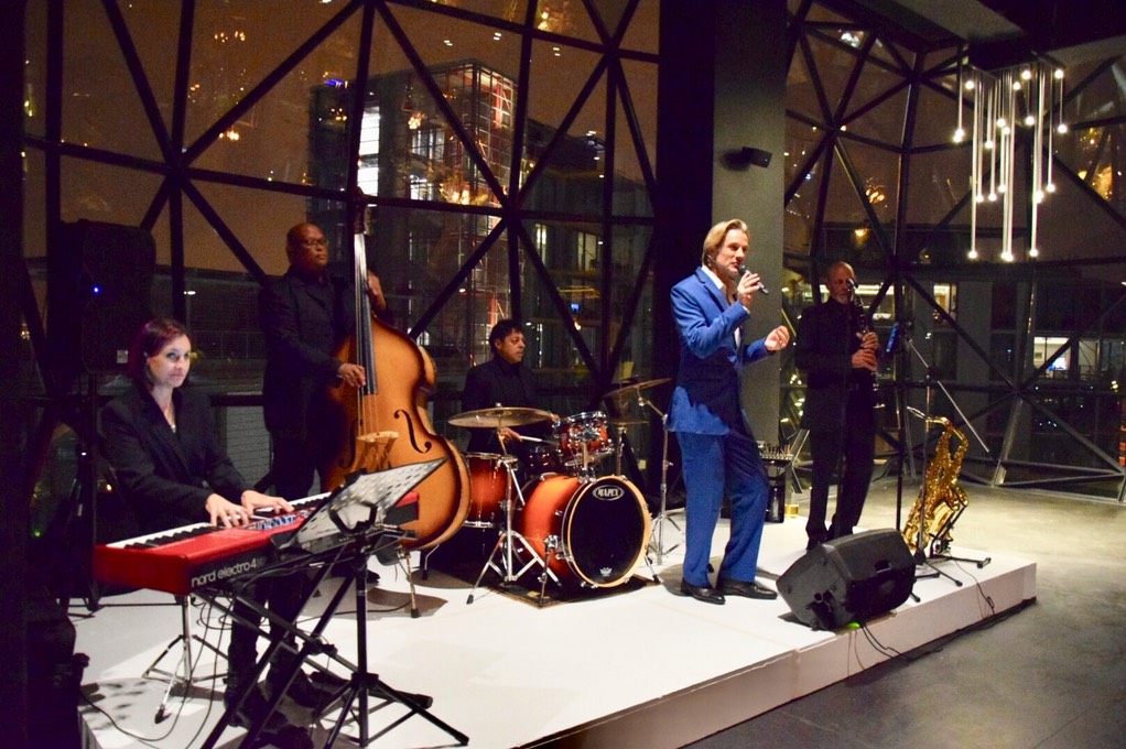 Ike Moriz Quintet at Zeitz Mocaa swing band jazz Cape Town South Africa entertainment birthday top wedding singer crooner waterfront museum of contemporary art Africa quintet quartet trio duo