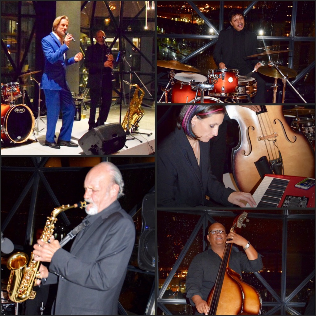live Ike Moriz Quintet at Zeitz Mocaa swing band jazz Cape Town South Africa entertainment birthday top wedding singer crooner waterfront museum of contemporary art Africa ike lynne willie wesley ivan