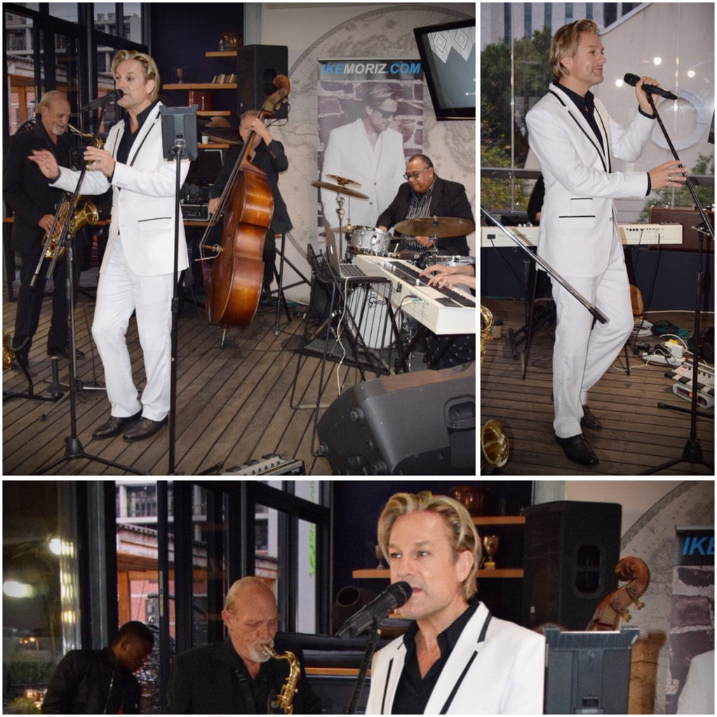 Ike Moriz Swing Quintet live at The Cartel Rooftop Bar Cape Town wedding entertainment jazz latin blues pop great gatsby charleston 20s 30s 40s quartet band birthday party south africa double bass piano saxophone clarinet voice singer vocal top